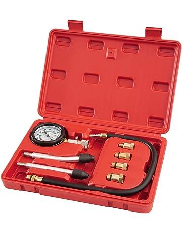 TecTake Kit comprobador tester prueba medidor de compresion gasolina en el motor - para motores de