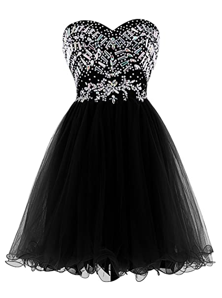Vestido negro corto de tul