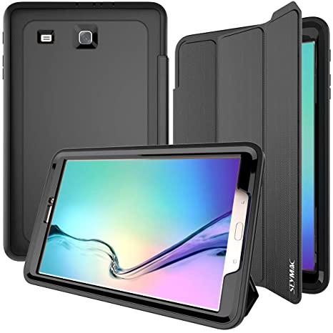 sale retailer 33471 8586a Samsung Galaxy Tab E 9.6 Case, SEYMAC Three Layer Drop Protection Rugged  Protective Heavy Duty Tab e Case with Magnetic Cover for Samsung Galaxy Tab  E ...