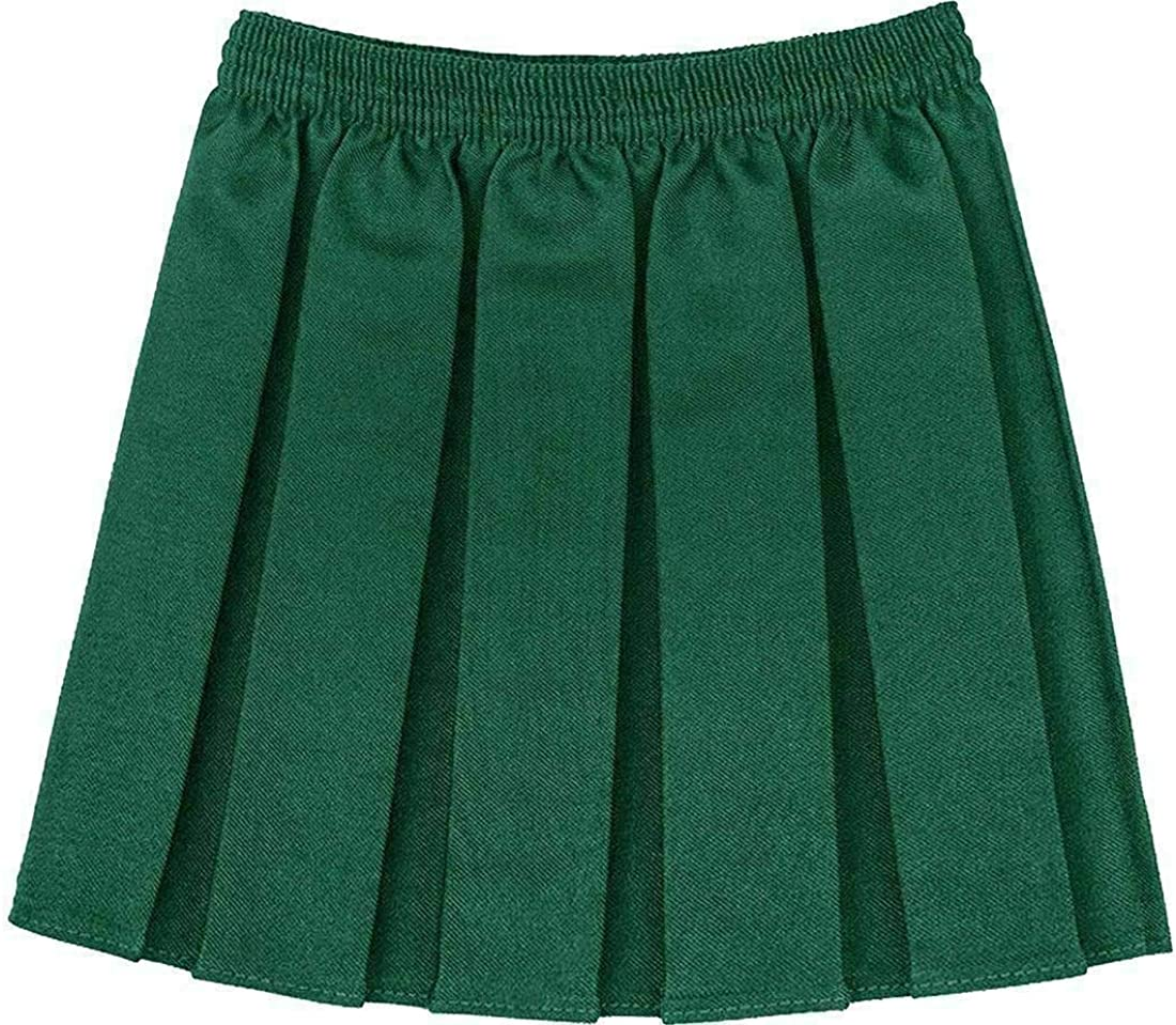 A/&H Fashion Girls School Kid School Uniform Box Pleated Elasticated Waist Skirt