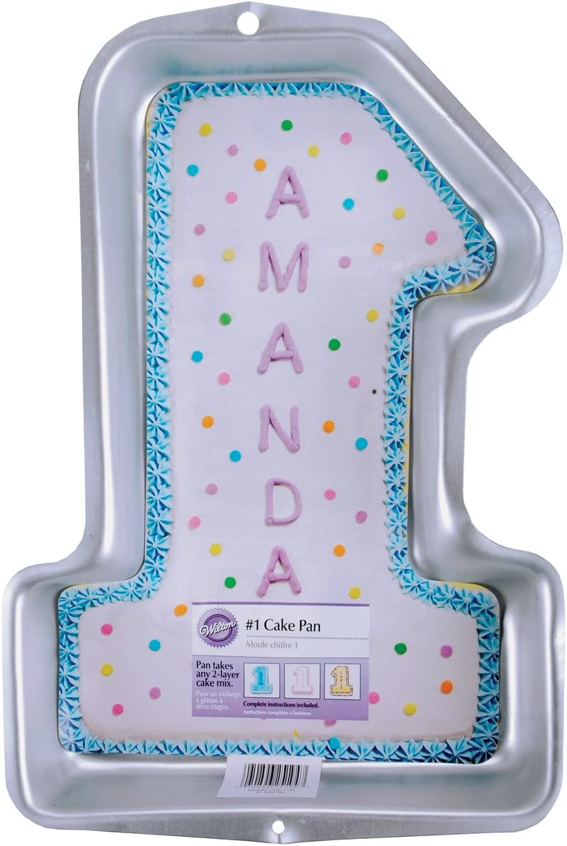 Swell Amazon Com Wilton First Birthday Cake Pan Kids 3D Number One Personalised Birthday Cards Beptaeletsinfo