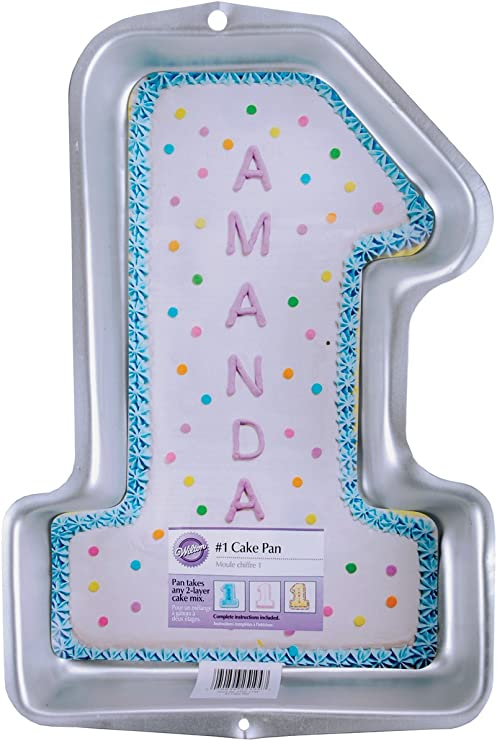 Strange Wilton First Birthday Cake Tin Kids 3D Number 1 Cake Tin 38 7 X Personalised Birthday Cards Paralily Jamesorg