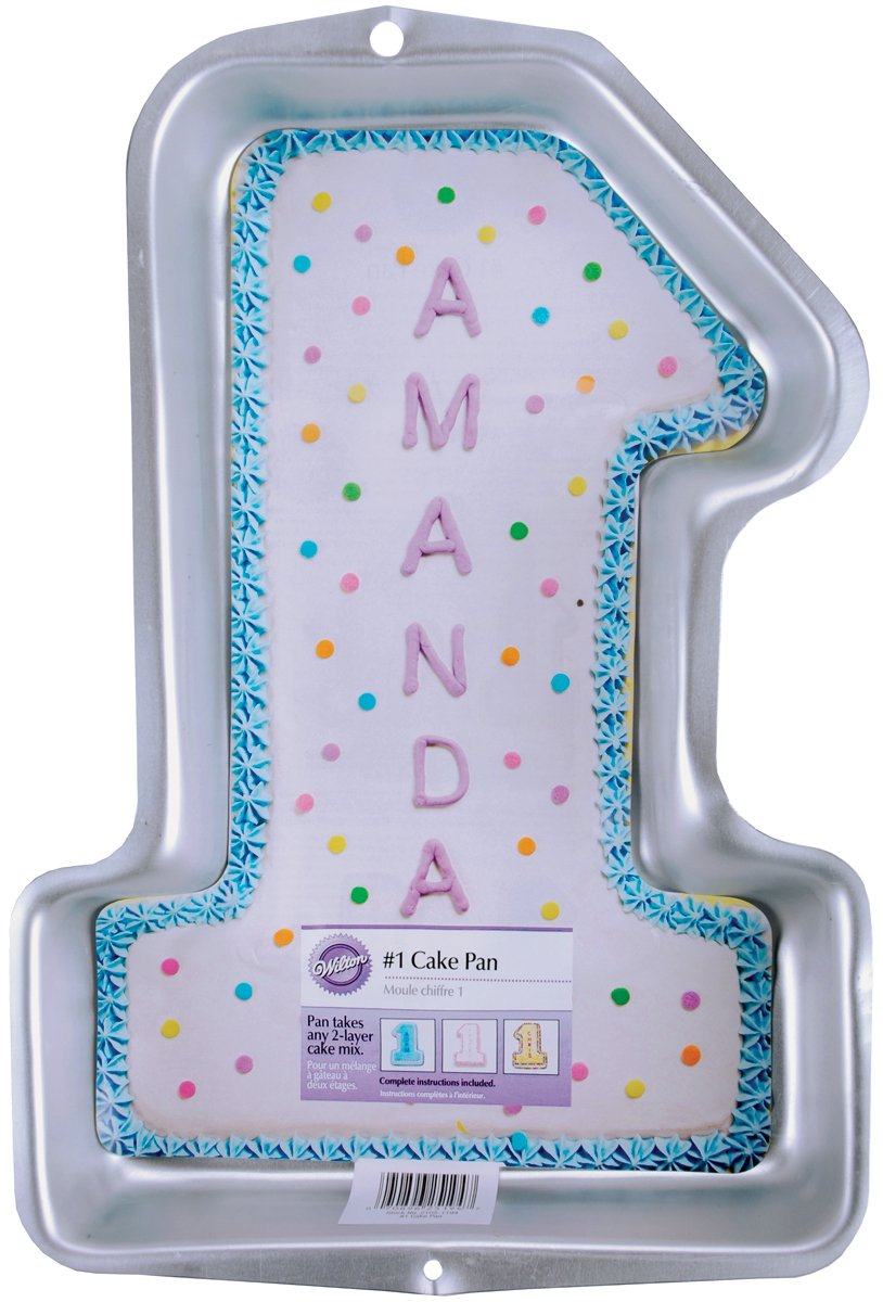 Amazon Wilton First Birthday Cake Pan Kids 3D Number One Novelty Pans Kitchen Dining