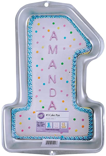 Amazon Wilton First Birthday Cake Pan Kids 3D Number One