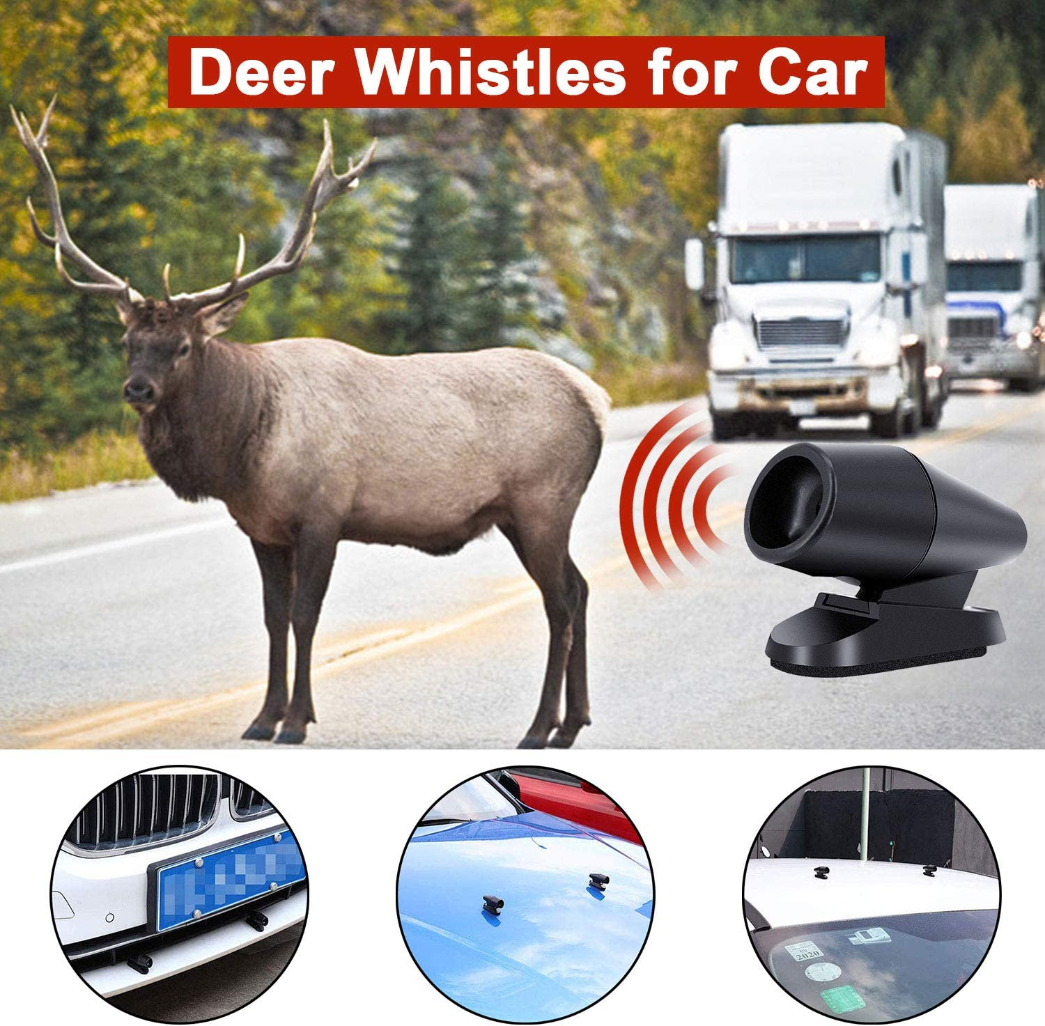indreamy 10 PCS Deer Whistles for Car Devices Animal Alert Warning Save A Deer Avoid Collisions Automotive Ultrasonic Bell Drive Safe for Car//Truck//Vehicle//Motorcycle