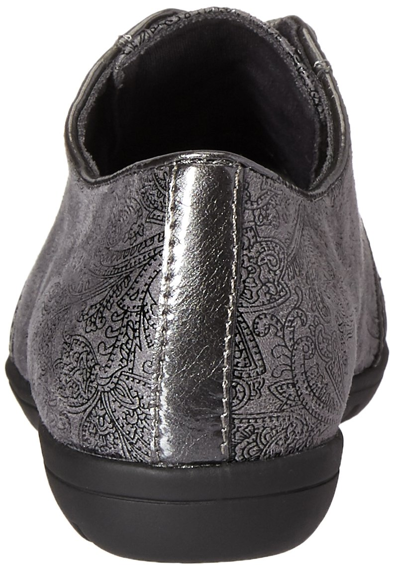 b5897060372 Soft Style Hush Puppies Mujeres Valda Oxford Pateley de Grey Paisley gris  oscuro   Patente Pearlized