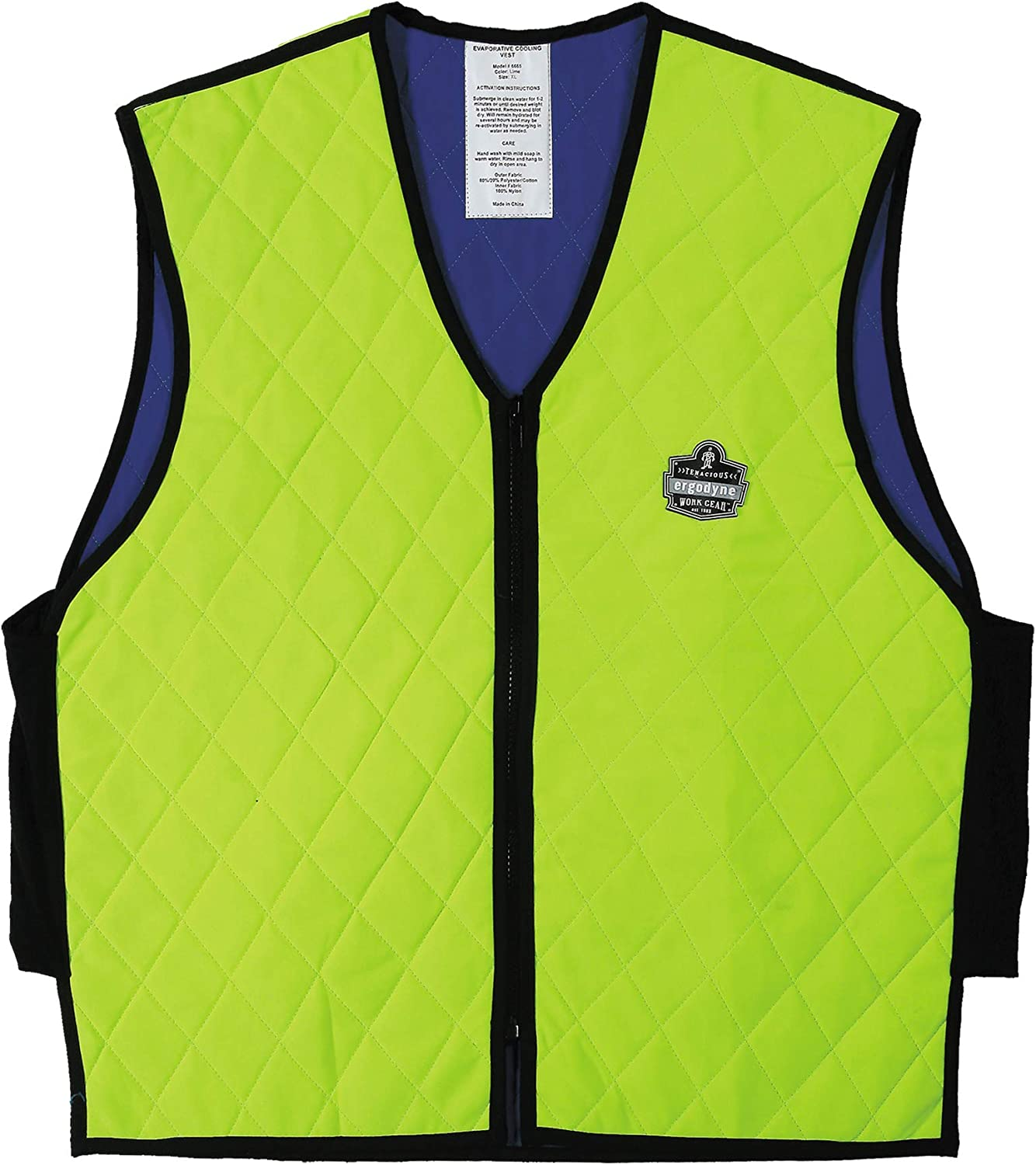 Ergodyne Chill-Its 6665 Evaporative Cooling Vest - Lime, Medium