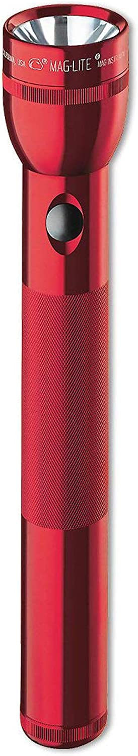 Maglite Heavy-Duty Incandescent 4-Cell D Flashlight Red