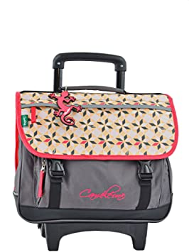 Cartable a roulettes fille 38 cm rose BODYPACK
