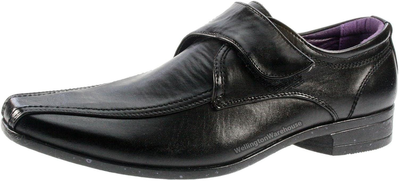 Mens Giovanni Black Velcro Smart Formal