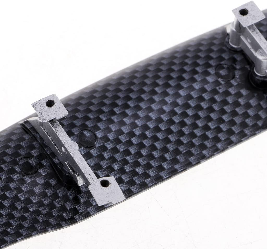Fliyeong 1//10 RC Car Accessories Carbon Wing Spoiler for 1:10 Drift Touring Cars Very Practical and Popular