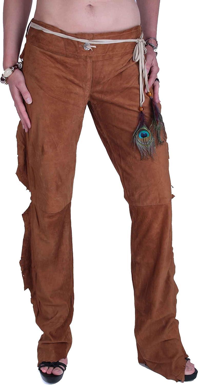 Dolce & Gabbana Mujer Pantalones de Cuero con Flecos