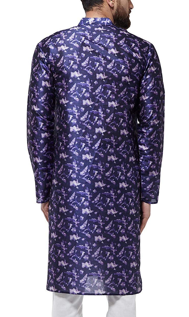 Festival-Men-Dupion-Silk-Kurta-Pajama-Ethnic-Party-Wear-Bollywood-Dress-Pyjama thumbnail 29