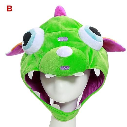 871d85df68e XCOSER Cute LOL Gnar Dinosaur Hats Plush Toys Props for Haloween Costume