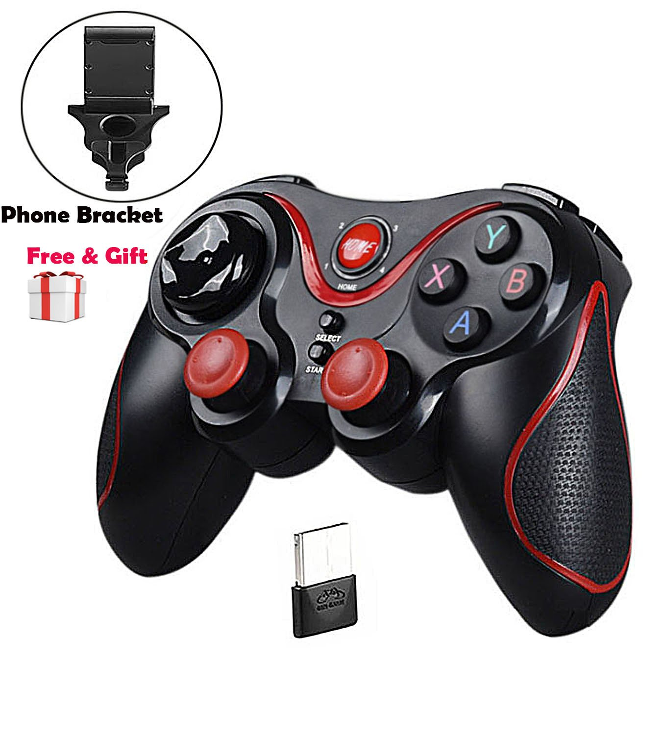 MallTEK Wireless Controller PS3 PC Smartphone Gaming Gamepad Gamepad Kabelloses fü r Android Smartphone PC PS3 Smart TV TV Box TN-Gamepad-1