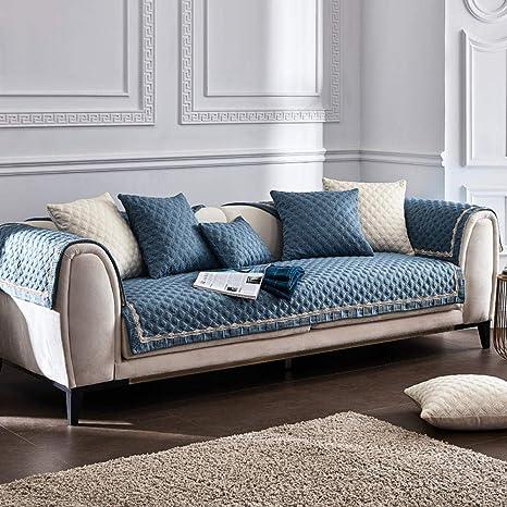 ABUKJM Fundas para Sofa,Elegante Cubierta de sofá Europea ...