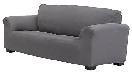 Belmarti Toronto - Funda sofa elástica Patternfit, 4 Plazas, color Gris
