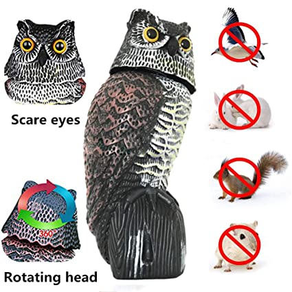 Amazon com : xingxinqi Scarecrow Owl Decoy Outdoor Hunting