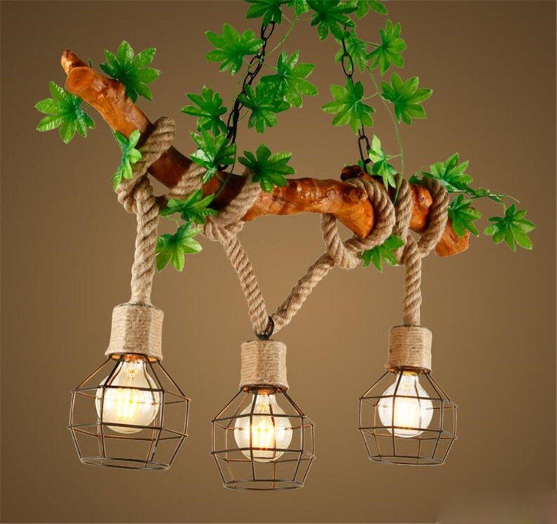 Kronleuchter Seil 3-Flammig Loft Lampe Retro Pendelleuchte ...