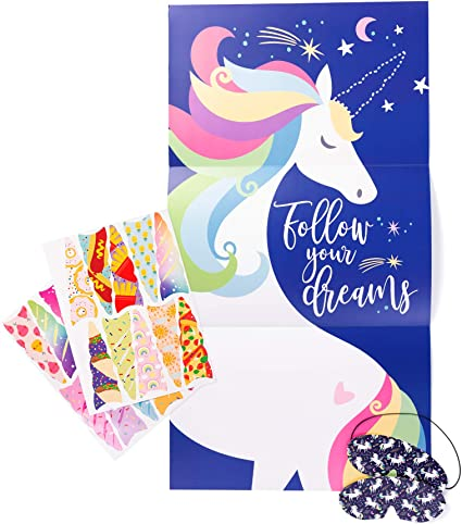 Amazon.com: Pin the Horn on The Unicorn, Unicorn Party ...