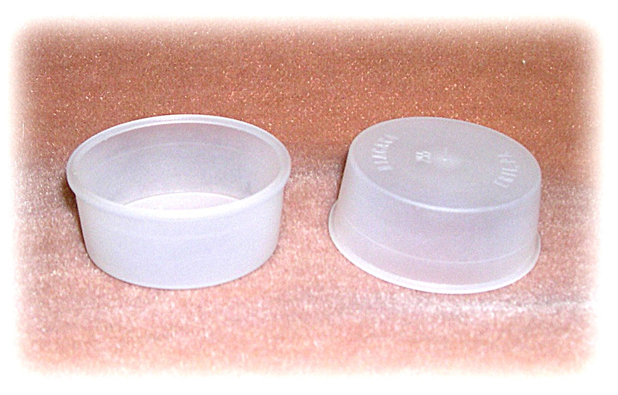 White Translucent Plastic Plug fits a 1-11/16 Inch Hole (Pkg/12)