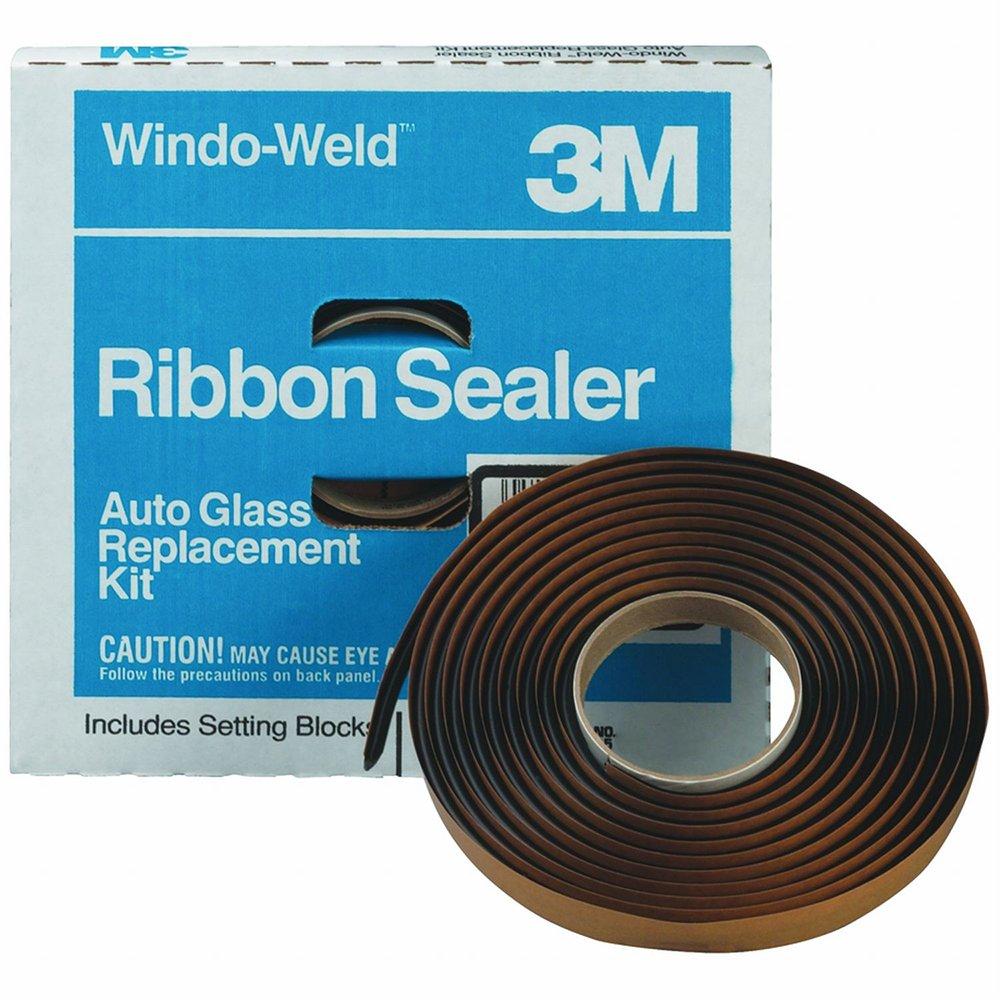 3M 08621 Window-Weld 5/16'' x 15' Round Ribbon Sealer Roll