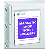 C-Line Magnetic Clear Vinyl Shop Ticket Holders, 9 x 12 Inches, 15 per Box (83912)