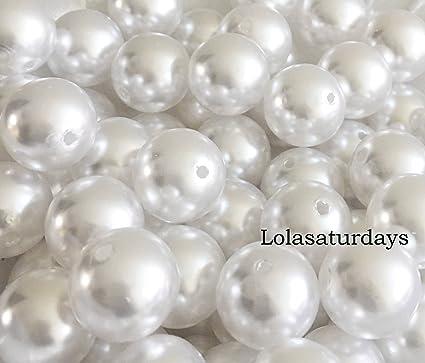 Amazon Lolasaturdays Pearls 1 Lbs Loose Beads Vase Filler 18mm