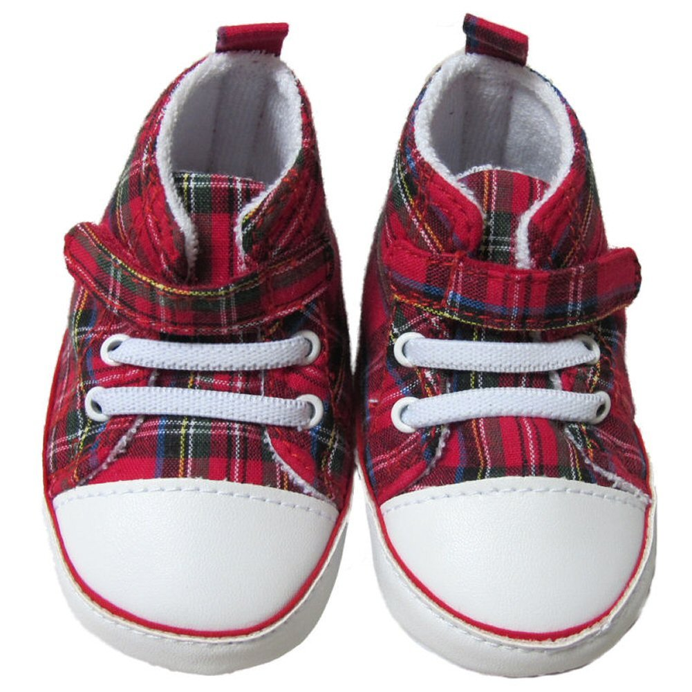 Glen Appin Babies Royal Stewart Tartan White-Toed Boots