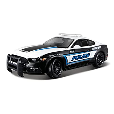 Maisto 1:18 2015 Ford Mustang Police Diecast Vehicle: Toys & Games [5Bkhe1107266]