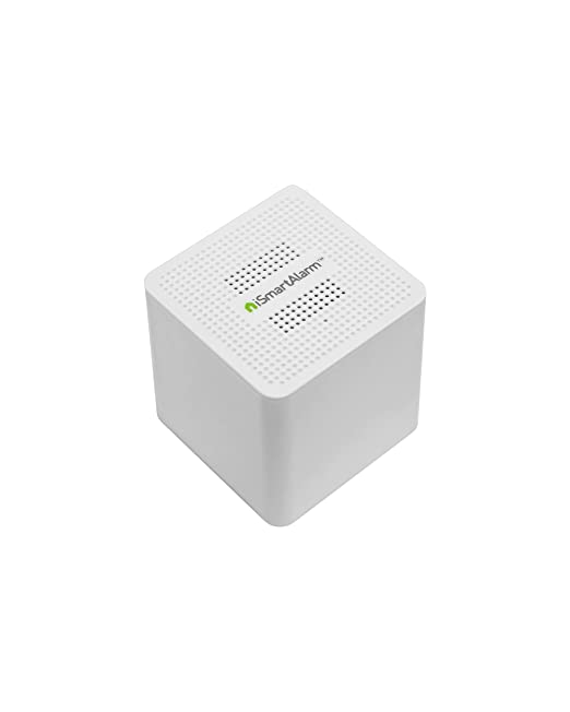 iSmartAlarm Satellite Siren | 110db Adjustable Volume Alexa & IFTTT Compatible | AS3, White