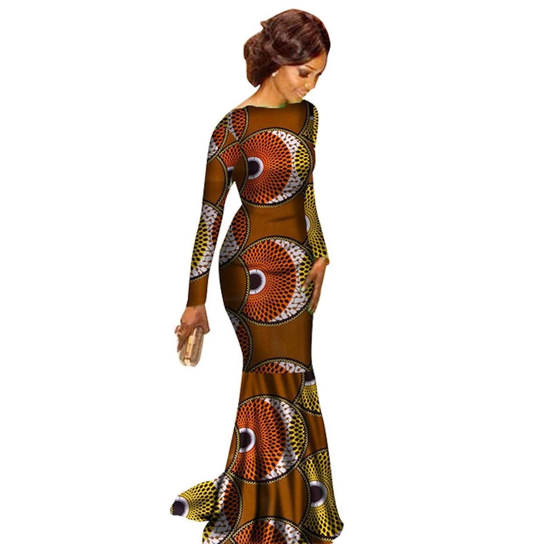 83c6151340cf2 Amazon.com: African Clothing Ankara Dashiki Kanga Long-Sleeve Dress ...