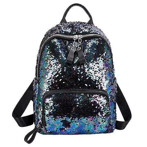 dbc4498805 Innerternet Zaino piccola borsa a tracolla con cerniera in paillettes da  donna zainetto moda sportiva fashion