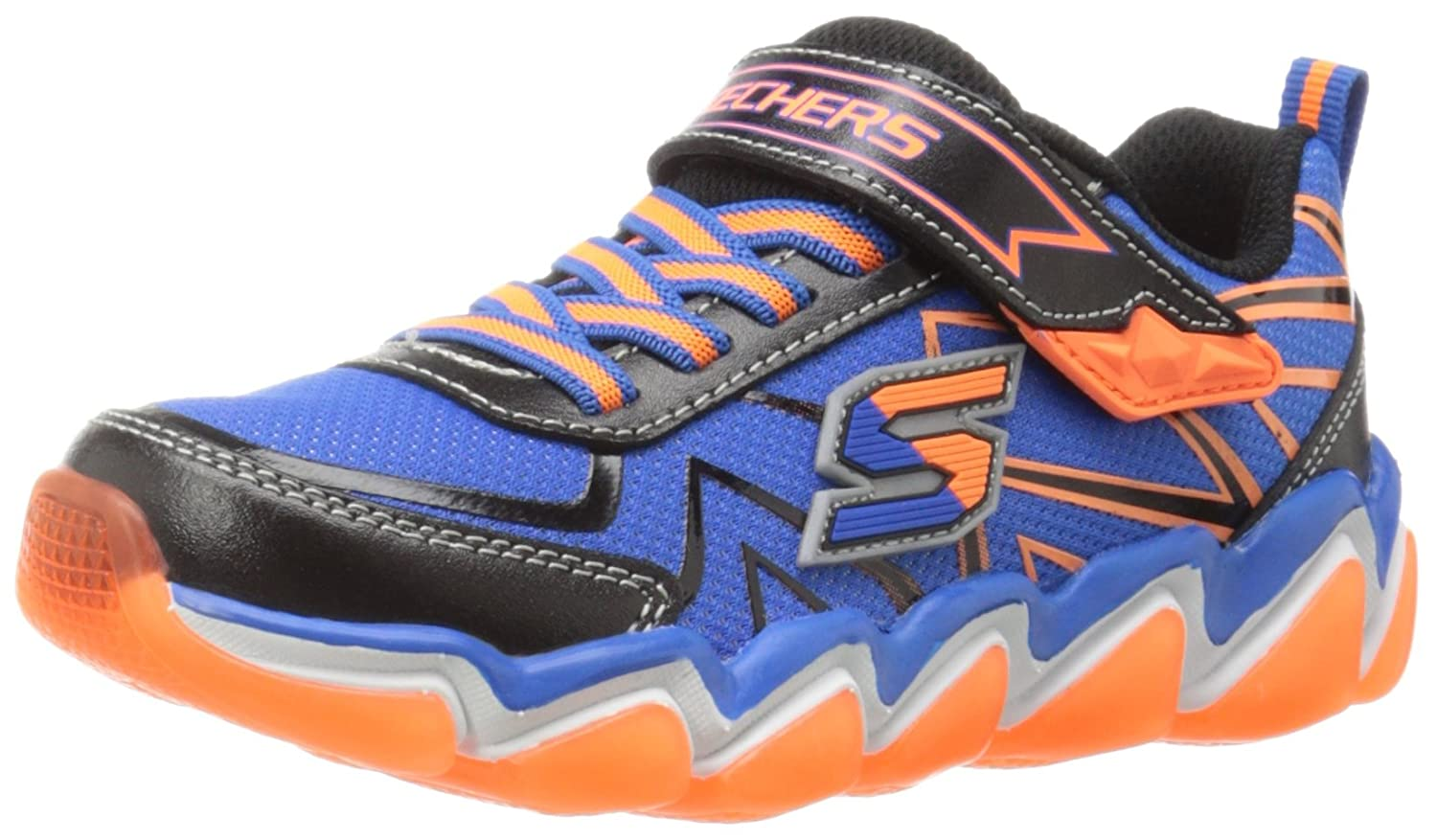 Skechers 97411 073 SKECHAIR 3 97411 Blau-schwarz-Orange Kids Everyday schuhe, schwarz Blau Orange, 10.5 UK M Little Kid