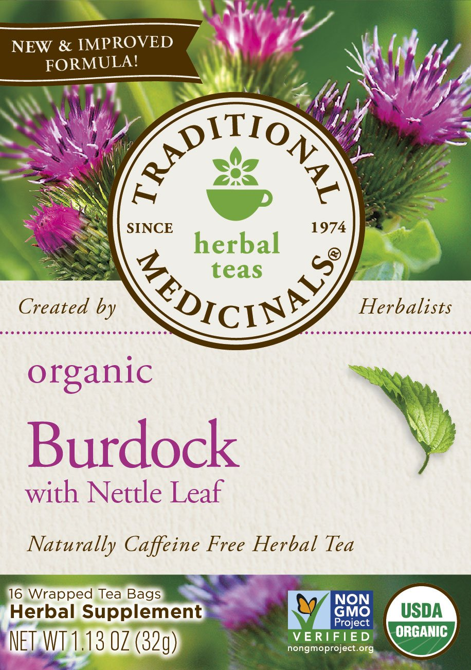 Traditional Medicinals Organic Burdock with Nettle Herbal Leaf Tea, 16 Tea Bags by Traditional Medicinals (Image #1)