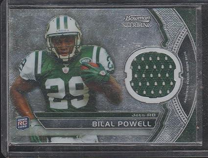 2011 Bowman Sterling Bilal Powell Jets Rookie Jersey Football Card ...