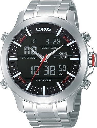 Lorus Reloj de Cuarzo para Hombre con Correa de Acero Inoxidable - RW601AX9: Amazon.es: Relojes