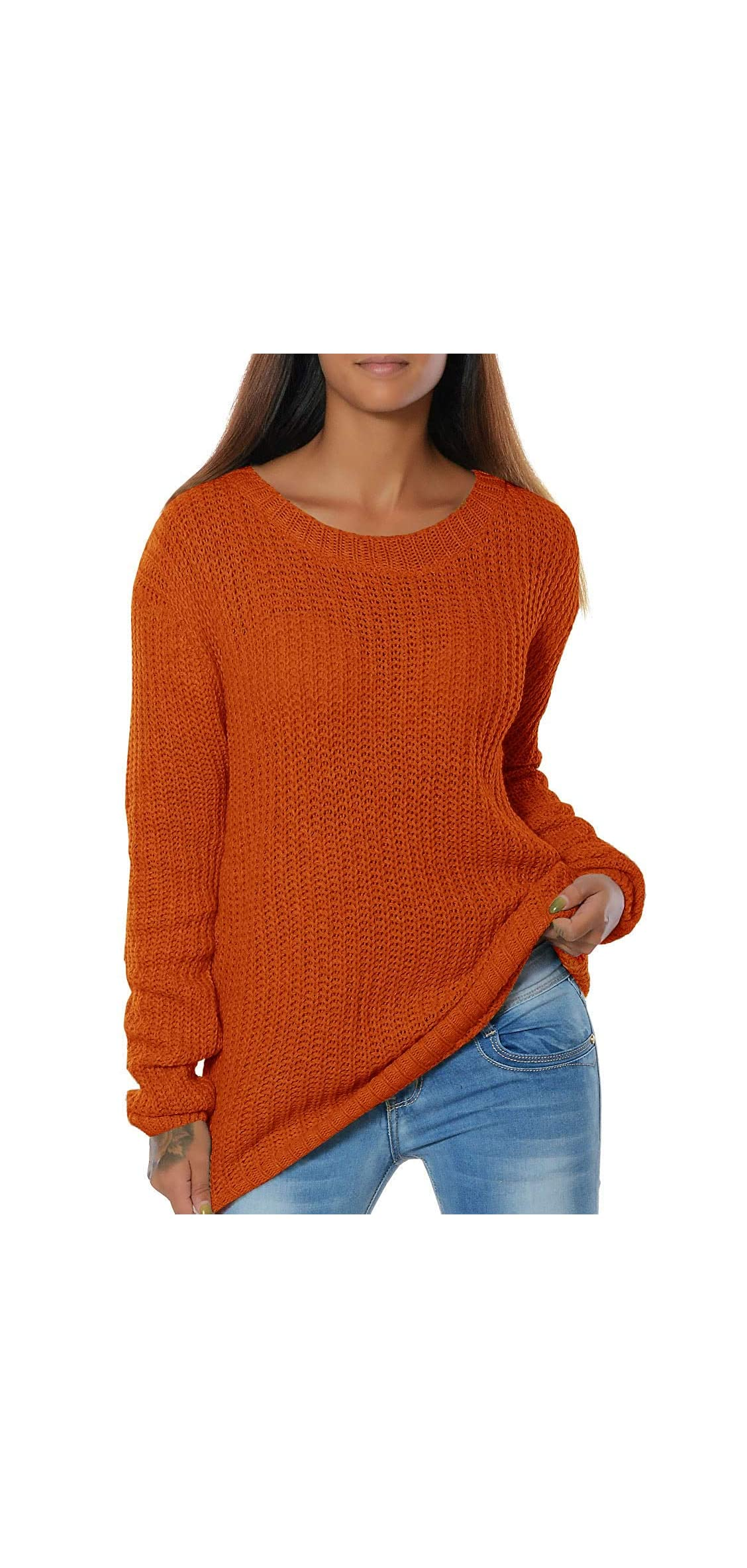 Womens Oversized Sweaters Fall Chunky Knit Loose Fit