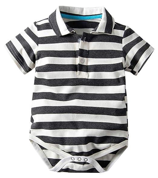 Amazon.com: Betusline - Polo de rayas para niño y bebé, 3 ...