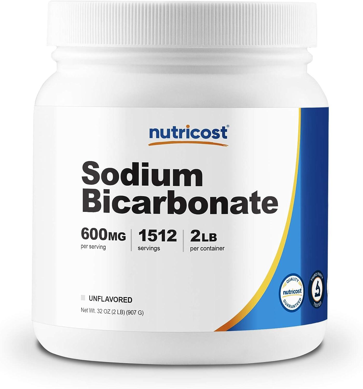 Nutricost Sodium Bicarbonate (2 LB) - 600mg Per Serving, Non-GMO, Gluten Free