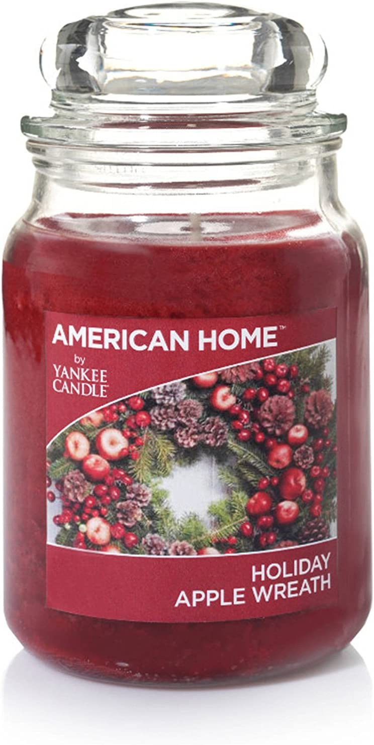 American Home (R) by Yankee Candle (TM), Holiday Apple Wreath, Large Glass Jar, 19 Ounces