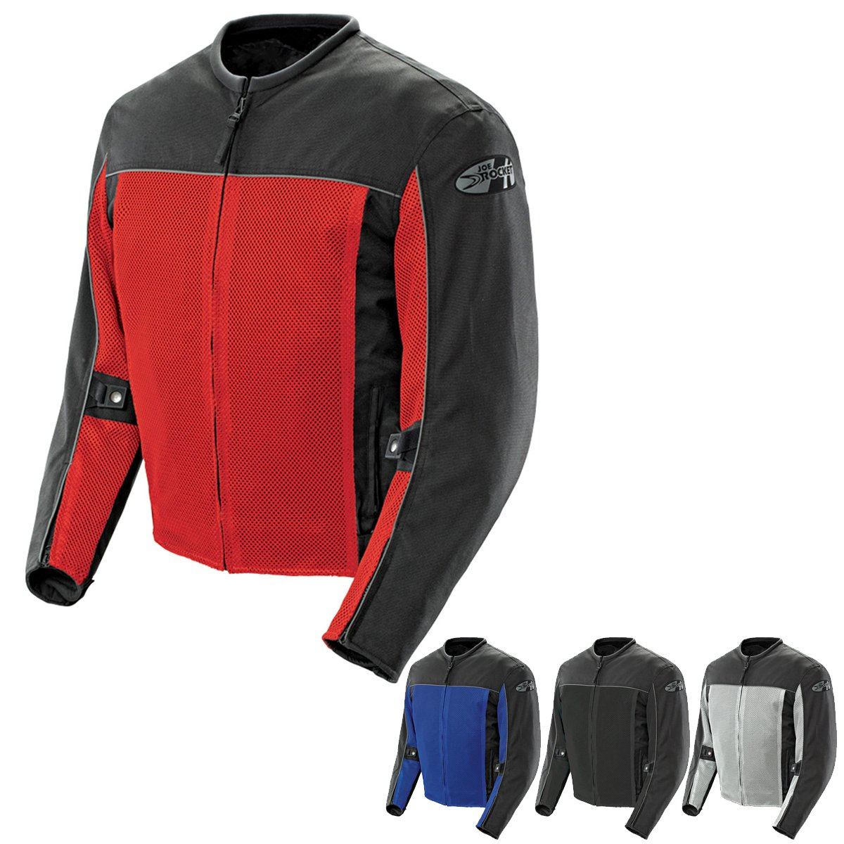 Joe Rocket 'Velocity' Mens Grey/Black Mesh Motorcycle Jacket - Gray / 2X-Large