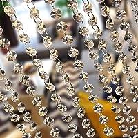 MOHOO cortina de 10m decoraciones de las puertas de cristal de DIY, fiesta, boda. Guirnalda de perlas para colgar para…