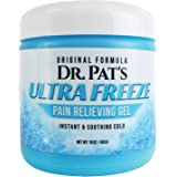 Dr Pat's Ultra Freeze Pain Relief Cream [XL 16 oz] - Muscle Pain Relief Topical Analgesic Gel - Anti Inflammatory Therapy Rub for Arthritis, Tendonitis, Back, Neck, Plantar Fasciitis, Sore Joints