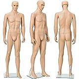 [casa.pro]® Mannequin de vitrine 185cm masculin Mannequin de couture