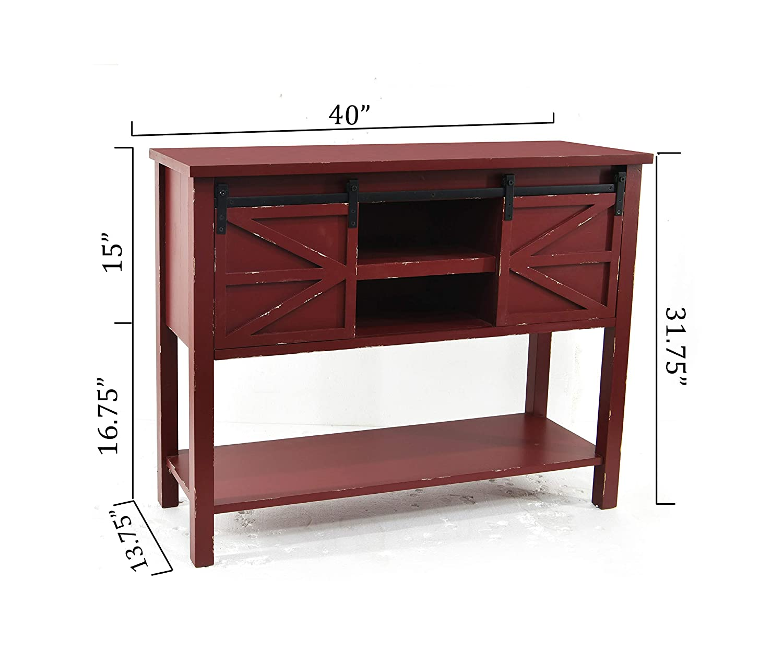Pleasing Amazon Com Ehemco Antique Farmhouse Console Table With 2 Creativecarmelina Interior Chair Design Creativecarmelinacom