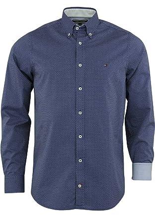 08f97cf0e9b0 Tommy Hilfiger Herren Freizeit-Hemd Blau blau Small  Amazon.de ...