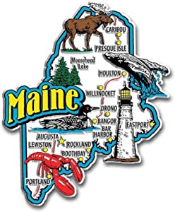 Maine Jumbo State Map Fridge Magnet
