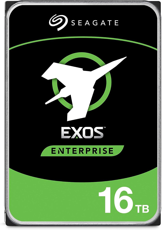 Seagate 16TB HDD Exos X16 7200 RPM 512e/4Kn SATA 6Gb/s 256MB Cache 3.5-Inch Enterprise Hard Drive (ST16000NM001G)