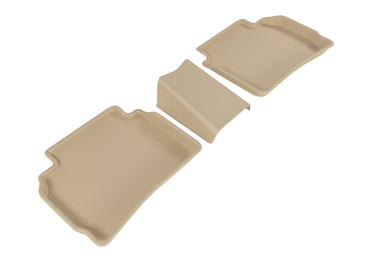 Tan Kagu Rubber 3D MAXpider Complete Set Custom Fit All-Weather Floor Mat for Select Chevrolet Malibu Models